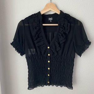 Dolce & Gabbana ruffle button down blouse